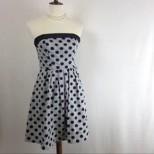 The Limited Polka Dot Strapless Dress